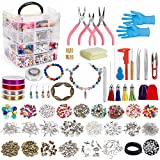 Jewelry Making Kit,Jewelry Making Supplies Includes Jewelry Beads,Charms,Complete Tools for Necklace Earring Bracelet,Crafts for Adults and Beginners,Gift for Teens, Girls, Women
