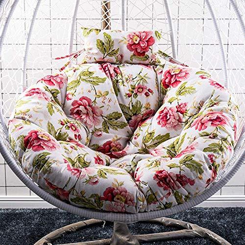 Iwinna Cojín de asiento para columpio, grueso y suave para colgar, cojín de silla para interiores y exteriores, balcón, almohadilla para hamacas, sillas oscilantes