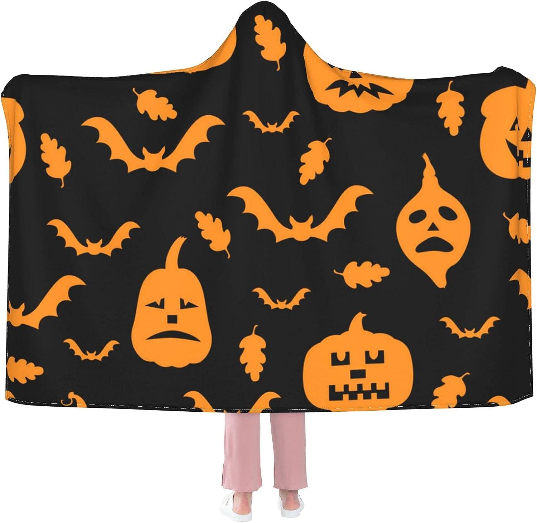 Sordiw National uniform free shipping Halloween Pumpkin Hooded service Blanket S Soft Super for Flannel