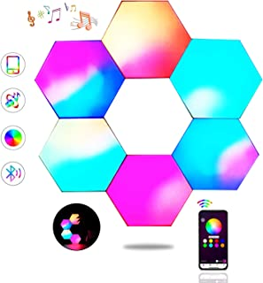 Sechseck Wandleuchte, Smart LED Licht Wandpanel APP Steuerung Musik Sync, 16 Millionen Farben Modulares Licht RGB Nachtlic...