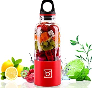 Portable Rechargeable USB Blender, YOMYM Juicer Blender Juice Cup Juice Travel Mini Blender for Fruit, Vegetable, Smoothie...