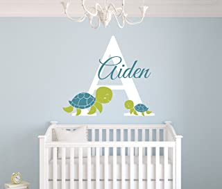 Turtles Customized Name Wall Decal - Baby Room Decor - Nursery Wall Decals - Name Vinyl Sticker