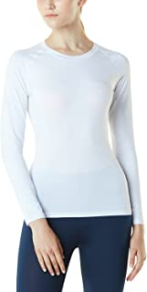 Tesla Women's Long Sleeve T-Shirt Baselayer Cool Dry Compression Top Round Neck/Mock Neck