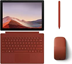 "$989 » Microsoft Surface Pro 7 2-in-1 12.3"" Touchscreen Tablet 2736x1824, 10th Gen i5, 8GB RAM, 128GB SSD, Quad-Core, USB-C, Backlit, Webcam, Win 10 w/Type Cover, Arc Mouse, Pen - Poppy Red"