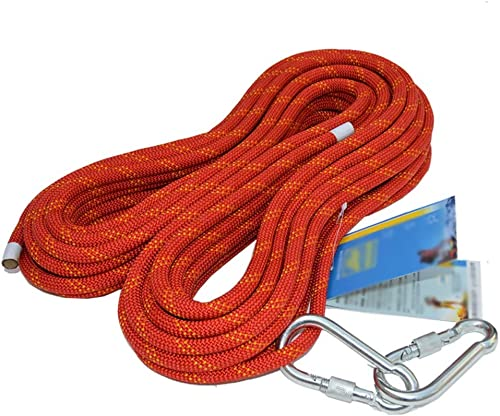 YONG FEI La Corde- Corde d'extérieur 12 mm Statique Corde d'escalade Corde de Rappel Corde de sécurité Haute Altitude Corde de sécurité antichute, Rouge, 13 Tailles        (Taille   10M)