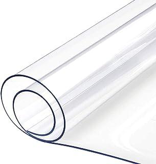 Nappe en PVC Transparent Transparent De 0.5 Mm pour Table De Cuisine, Table De Cuisine - Housse ImperméAble en Plastique T...