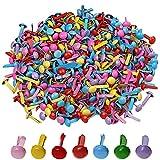ofoen 500 piezas mini clavos, 5 mm redondo Brad papel Craft Stamping Scrapbooking DIY herramienta Color al azar
