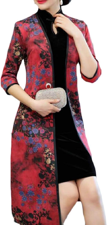 CBTLVSN Womens 2 Piece Set 3 4 Sleeve Cheongsam Traditional Dress for Party
