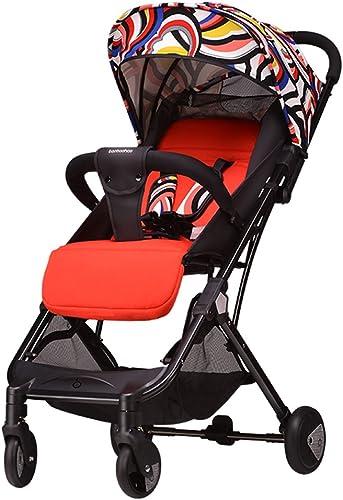 tomamos a los clientes como nuestro dios Cochecito de de de bebé puede sentarse reclinable ultraligero portátil plegable Carretilla del carro ajustable (azul) (Color) 44  26  100cm ( Color   Color )  mejor calidad