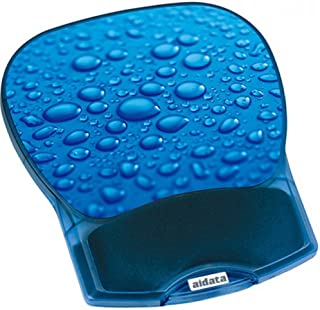 Aidata GL012D Deluxe Gel Mouse Pad Wrist Rest, Water Drop, Soft Cushion Gel and Silky Smooth Wrist Rest, Colored Micro-str...
