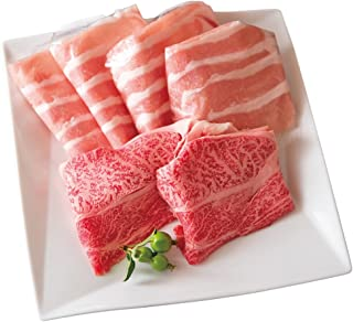 すき焼きセット 常陸牛&ローズポーク 霜降りA5肩ロース ロース 肉のイイジマ