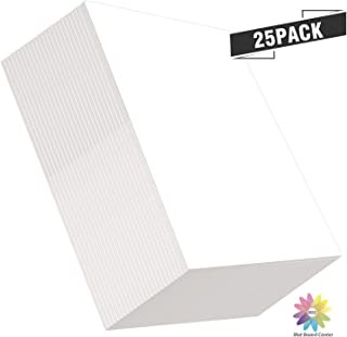 "Mat Board Center, Pack of 25 Foam Core Backing Boards 1/8"" (12x16, White)"