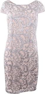 Calvin Klein Womens Sequined Cocktail Sheath Dress