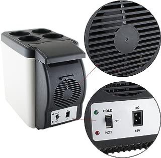 (US Warehouse Delivery)6L Portable Car Refrigerator Fridge Cooler Warmer Freezer 12V Truck Camping for Car Electric Small Cooler Refrigerator Fridge Cooler