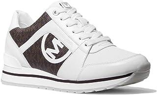 Michael Kors Zapatillas Deportivas para Mujer Billie Trainer con Logos Modelo 43S1BIFS1B Color Blanco/Marron (272 OpWhite/...