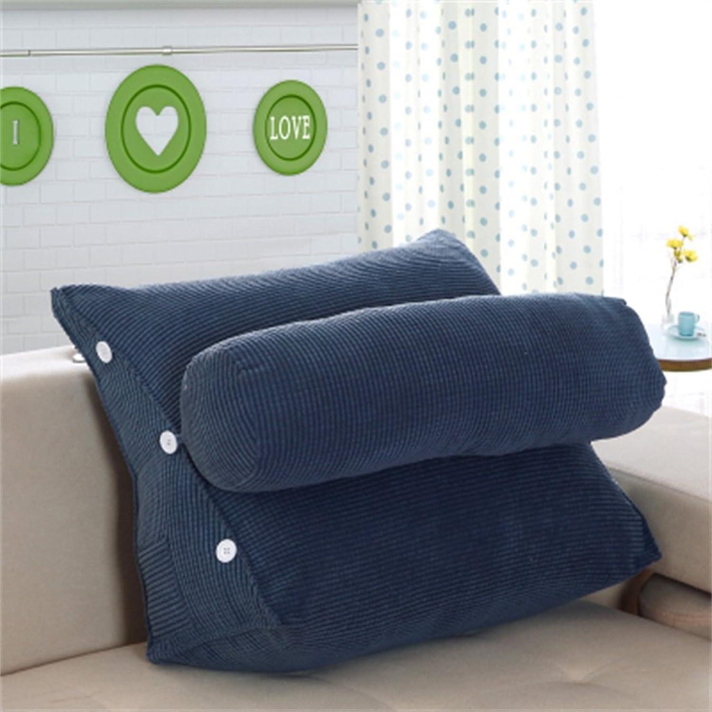 RFJJAL Triangle Bed Backrest Neckrest Pillow Office Sofa Pillow Cushion (color   C, Size   Length 45cm)