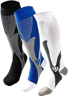 Ruzishun Compression Socks for Men & Women(3 Pairs),20-30 mmHg
