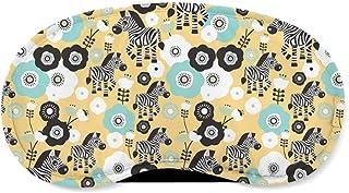 Zebra Blossoms Yellow - Sleeping Mask - Sleeping Mask