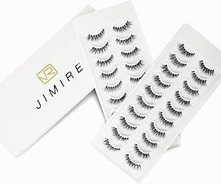 JIMIRE False Eyelashes Natural Lashes 20 Pairs Wispy Fake Eyelashes Multipack