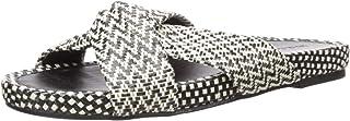 Lucky Brand Women's Fynna Slide Sandal, Black/Natura, 6.5 M US