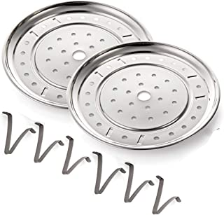 (2 Pack) Pressure Cooker Rack Water Bath Canning Rack Food Steam Basket Rack Dia 7.67 Inch with Detachable Legs for Small Jars- Fits Pot 5,6,8 qt Pressure Cooker (195mm)