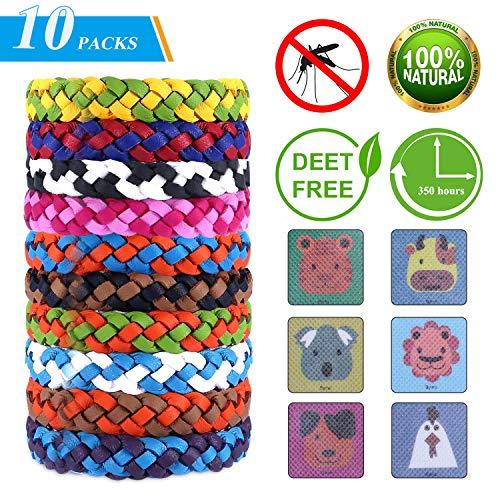 Mückenschutz Armband, Mückenarmband, Moskito Armband, 10 Stück Anti mücken Armband für Erwachsene und Kinder , Color B