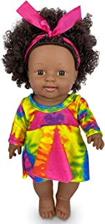 Nice2you Black Baby Girl Doll 12inch Fashion Doll Toy African American Indian Style Lifelike Dolls for Gifts