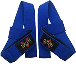 weight lifting bar straps- blue color