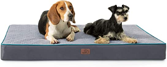 Bedsure Orthopedic Memory Foam Dog Bed for Medium, Large and Extra Large Dogs up to 75/100lbs Tempurpedic Dog Bed, 3.5-4 i...