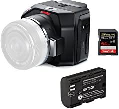 Blackmagic Design Micro Cinema Camera Body Only, with Micro Four Thirds Lens Mount, 13 Stops of Dynamic Range … (with LP-E6N)