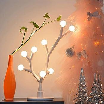 Chende テーブルランプ 8LED電球付き DIY クリスマスツリー おしゃれ 北欧 ベッドサイド テーブルライト ナイトライト シンプル フロアライト 夜間ライト 授乳ライト リビング 寝室 床置き プレゼント