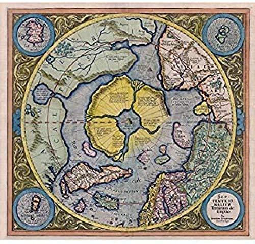 ZEIO The North Pole Overlook View, 1000 Piezas Rompecabezas de Madera para Adultos, Regalos de cumpleaños únicos Juguetes Juegos Rompecabezas para niños Adultos Niños - El Polo Norte