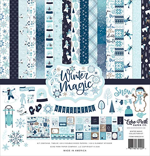 Echo Park Paper Company Winter Magic Collection Kit Paper