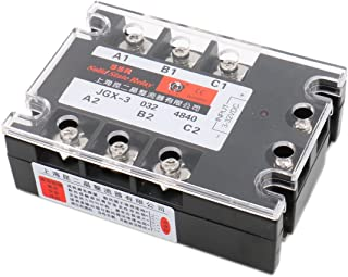Baomain 3 Phase Solid State Relay JGX-3340A 3-32 VDC Input 480VAC 40 Amp Output DC/AC