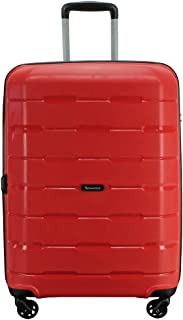 QANTAS Brisbane 4 Wheel Trolley Suitcase Red 68cm