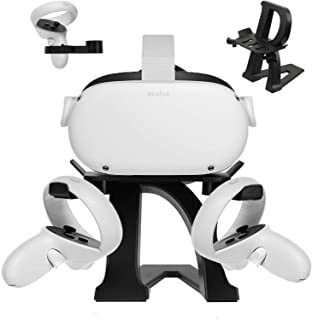 Esimen VR Stand for Oculus Quest 2/Quest/Rift S/HTC Vive Pro/Valve Index VR Headset Letter Modeling Display Holder and Tou...