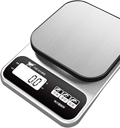 Kitchen Scales - Stainless Steel, 2 Units, Backlit Display, Home Waterproof Small Multi-Function Electronic Platform Scale - 2 Kinds Charging Method (Color : Charging)