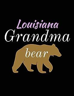 Louisiana Grandma Bear: Bear Journal Notebook to Write in