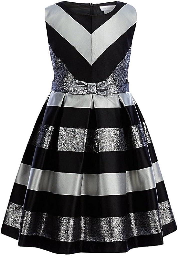 Bonnie Jean Girls' Striped Taffeta Dress