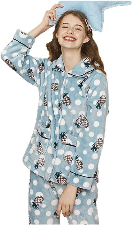 Pijama Mujer Más De Terciopelo Set Invierno Cálido Desgaste ...