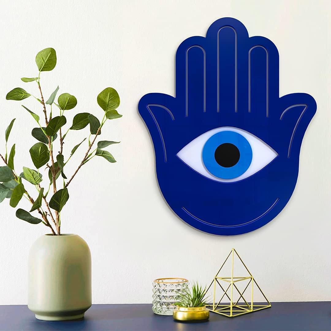 4ArtWorks - Max 63% OFF Hamsa Hand Wall Art Acryl Decor Blue Japan Maker New Ready to Hang