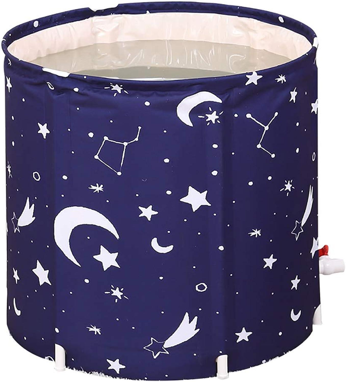 HAIYING Badewanne, Erwachsene Bad Fass Erwachsene Falten Badewanne Badewanne Kunststoffwanne Hause Krper Verdickung Bad (65  65 cm) (Farbe   A)