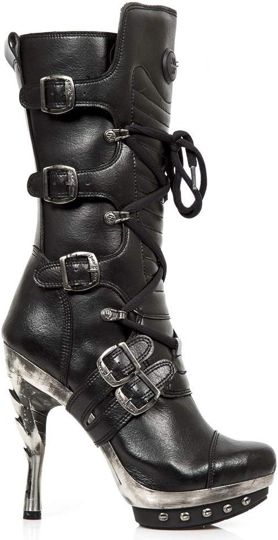 New Rock M.PUNK001 VS1 Schwarz - Stiefel, Vegan, Punk, Damen