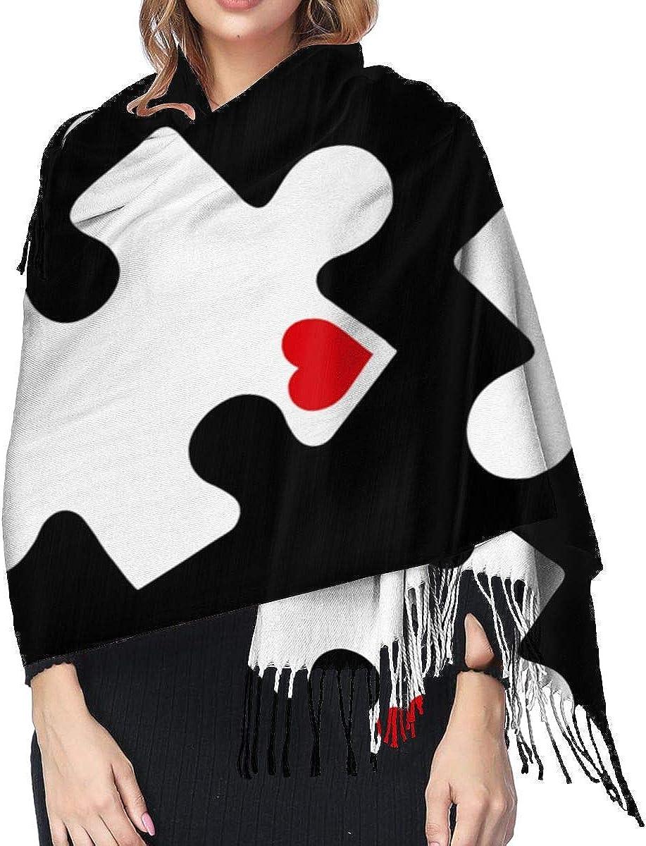 Love Autism Awareness Winter Scarf Cashmere Scarves Stylish Shawl Wraps Blanket