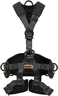 Fusion Climb Tac Rescue Tactical Full Body EVA Padded Heavy Duty Adjustable Zipline Harness 23kN L-XL Black