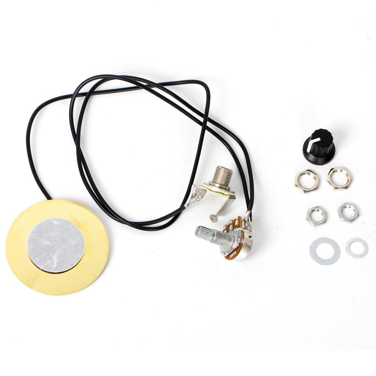 Pickup Piezo Transducer For Acoustic Guitar Violin Ukulele Mandolin Cig Box Parts Replacement 5 Pcs