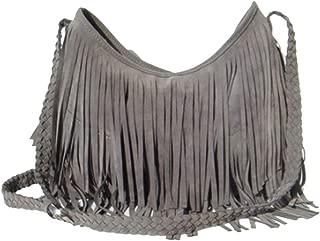 Fashion Women's Suede Weave Tassel Shoulder Bag Messenger Bag Fringe Handbags