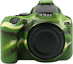 TUYUNG Silicone Camera Case Protective Cover Skin for Nikon D3500 Digital SLR Camera - Army Green