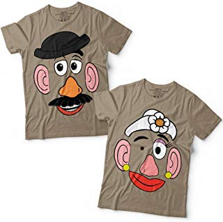 Potato Head Mr/Mrs Couple Toy Halloween Costume Group Matching Customized Handmade T-Shirt Hoodie/Long Sleeve/Tank Top/Sweatshirt