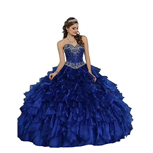 c79d2ac115e TaYan Women s Prom Ball Gowns Beaded Sweet 16 Long Quinceanera Dresses